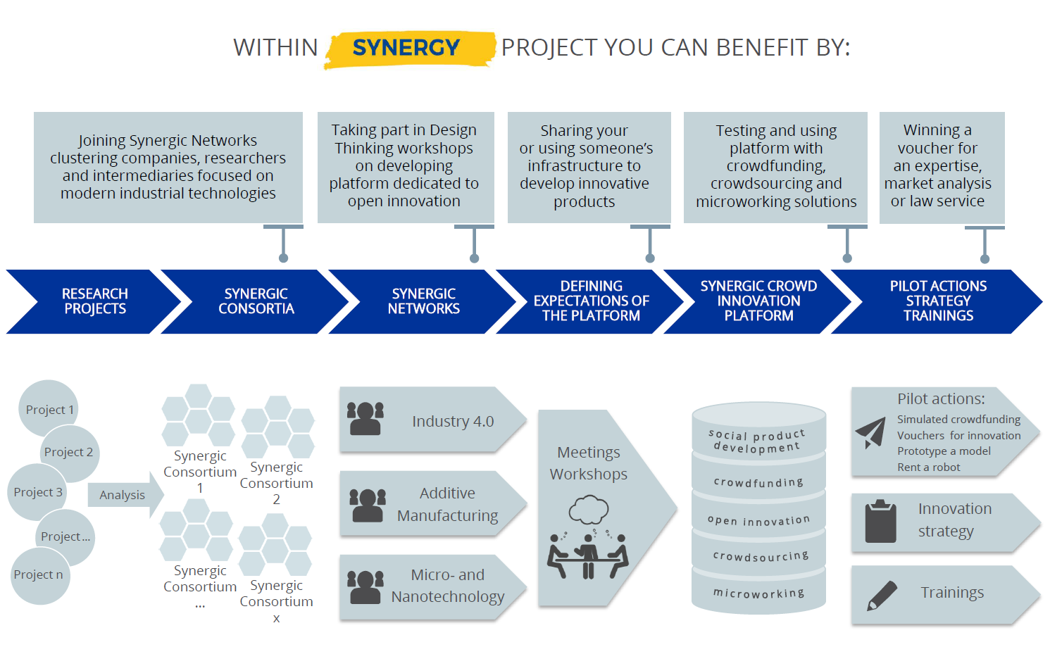 Scheme of the Interreg Central Europe Project SYNERGY