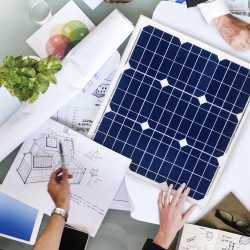 Solar panels in urban planning